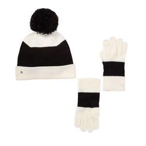 Kate Spade New York Beanie and Glove Set, New